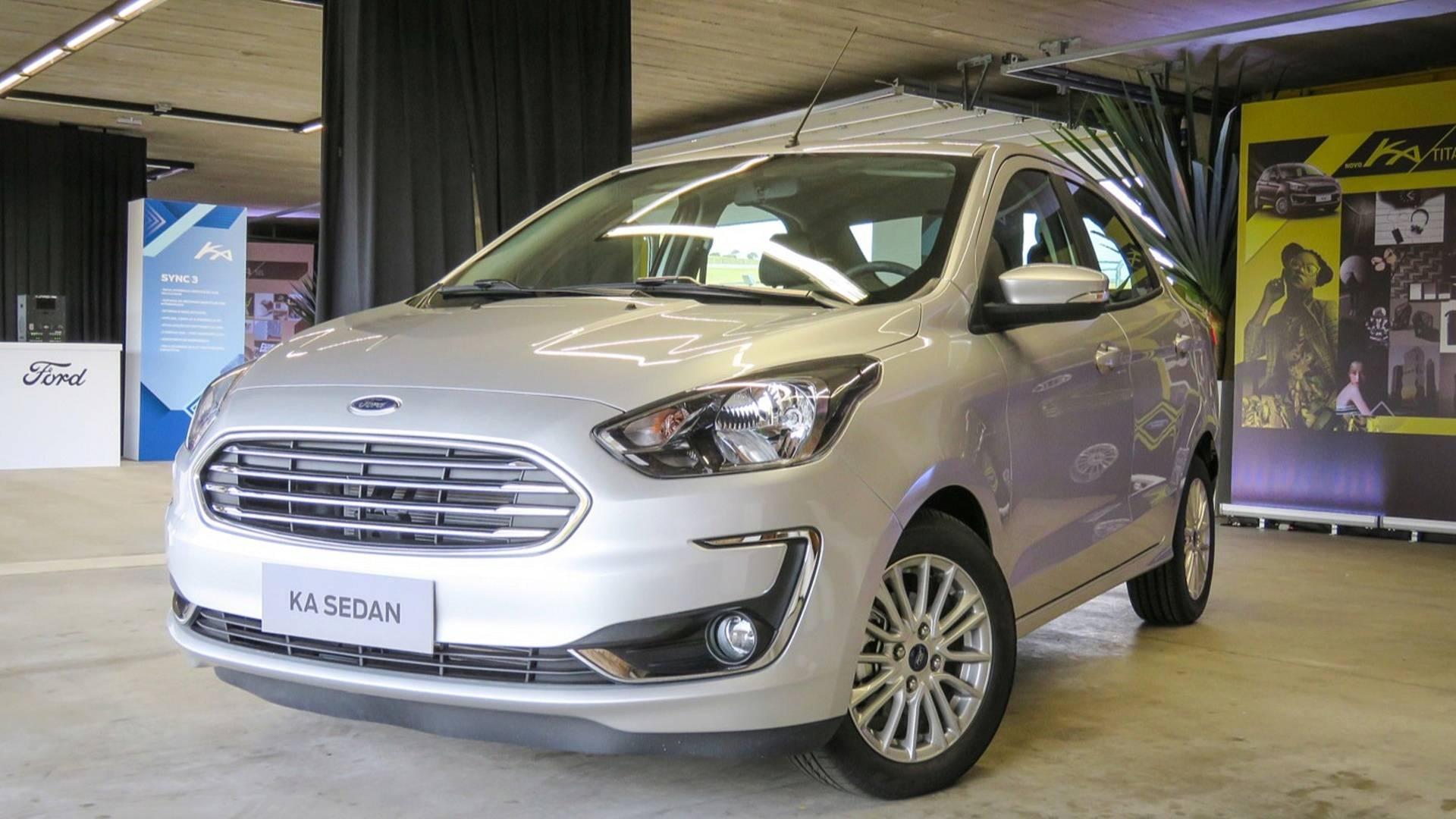 Foto do carro Ford Ka Sedan ilustrando o texto Descubra os 10 carros mais econômicos do Brasil em 2020